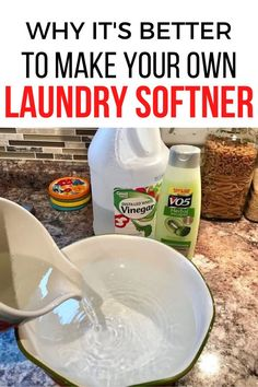 Making your own laundry softer is so much cheaper than the store bought variety. You can make your own home made fabric softner with these simple and easy ingredients. #diy #laundrysoftner #fabricsoftner House Cleaning Tips, Diy Cleaning Products, Cleaning Hacks, Diy Hacks, Laundry Hacks, Laundry Supplies, Homemade Fabric Softner, Make Your Own, Make It Yourself