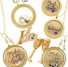 Origami Owl {Bridal Collection} Contact me for specials: TropicOWLcharmers@gmail.com www.bekah.origamiowl.com