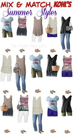 Update your summer wardrobe with this comfy styles! Mix & Match Kohls Womens Clothing Summer Styles (Mix Match Tips) Kohls Outfits, Casual Outfits, Fashion Outfits, Work Outfits, Fashion Clothes, Fashion Ideas, Comfy Travel Outfit, Travel Outfit Summer, Travel Outfits