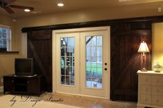 Sliding Barn  Type Doors To Cover The Outside Basement French Doors To  Provide The Needed Security And Privacy ~