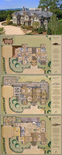 New House Plans Mansion Kitchens Ideas House Plans Mansion, Sims House Plans, Luxury House Plans, Dream House Plans, House Floor Plans, Castle Floor Plan, Castle House Plans, Luxury Floor Plans, Casas The Sims 4