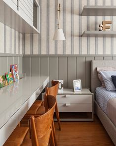 Blue Bedroom Decor, Baby Room Decor, Home Bedroom, Kids Bedroom, Tree House Interior, Apartment Interior Design, Kids Room Design, Home Room Design, Desks For Small Spaces