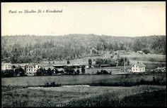 Akershus fylke Follo Ski kommune SKODBO ST. I KRAAKSTAD = Skotbu.Fint parti ca 1910-20-tallet. Stasjon og toget i bakgr. Utg E.Bauthler, fot. Oslo 1914