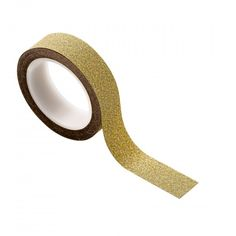 A roll of gold glitter tape, perfect for wrapping stylish gifts this Tapas, Gold Glitter, Picture Frames, Embellishments, Adhesive, Craft Projects, Mirror, Crafts, Gift Wrap