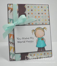 You Make My World Happy by TreasureOiler - Cards and Paper Crafts at Splitcoaststampers