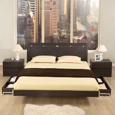The Capri Modern Platform Bed with Storage Space