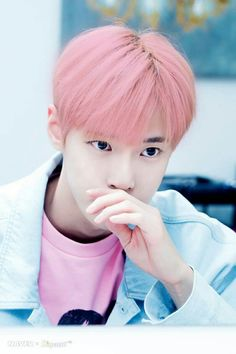 Doyoung and pink hair. #NCT