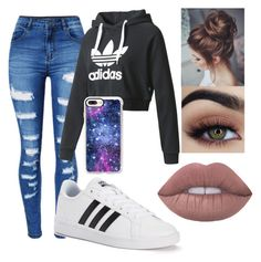"""Untitled #42"" by maya-wehr on Polyvore featuring WithChic, adidas and Casetify"