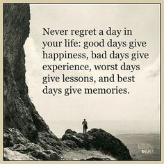 Never regret a day in your life… #motivationalquotes #motivational #motivationmonday #motivate #quote #quoteoftheday #quotestoliveby