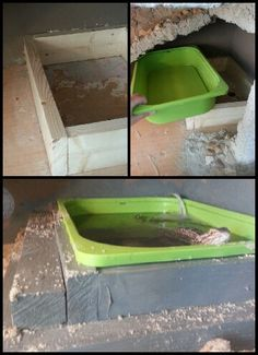 Simple water tub for my bearded dragons. Doesn't leak and easy to take out for cleaning