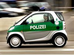 Police Smart car, Hamburg, Germany