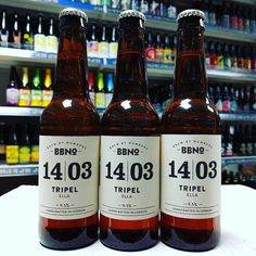 New beer. 14|03 Tripel Ella - 9.5% from @brewbynumbers in stock now