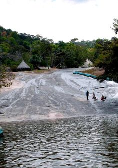 Tobogán de la selva de Amazonas.  Venezuela.