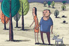 In the forest. Digital illustration.