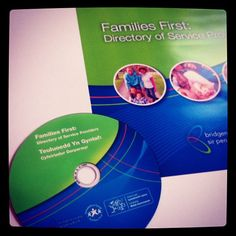 Information booklets with interactive CD for #familiesfirst #bridgend #graphicdesign #ugdwork
