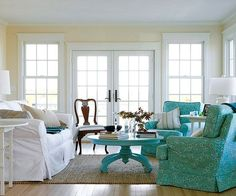 Using off-white in your decorating will make your whites even brighter! http://www.bhg.com/decorating/color/colors/best-tips-and-tricks-for-using-color/?socsrc=bhgpin011915warmupwhite&page=30