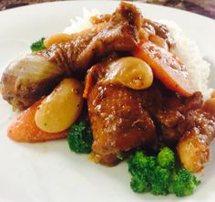 Jamaican stew chicken Jamaican Dishes, Stew, Meals, Chicken, Meal, Food, Lunches, Cubs, Nutrition