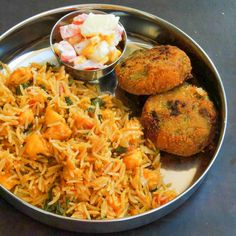Biryani is a complete one pot meal and you can dish out with any combination of vegetables. Paneer Biryani Recipe is a delicious version of the biryani that is cooked in an aromatic mixture of sp . Rice Recipes, Indian Food Recipes, Asian Recipes, Cooking Recipes, Ethnic Recipes, Paneer Recipes, Cooking Dishes, Dishes Recipes, Steak Recipes