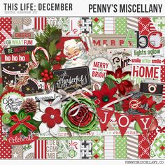 Friday's Guest Freebies ~ Penny's Miscellany ✿ Follow the Free Digital Scrapbook board for daily freebies: https://www.pinterest.com/sherylcsjohnson/free-digital-scrapbook/ ✿ Visit GrannyEnchanted.Com for thousands of digital scrapbook freebies. ✿ pm-thislife-december