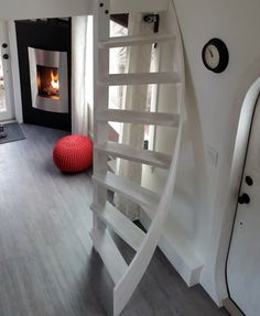 The Esk'et tiny house is a gorgeous work of art (and has a really cool spiral ladder) #small #space
