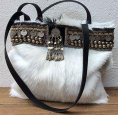 Bag of goat skin reserved listing for E. by KussenvanPaula on Etsy
