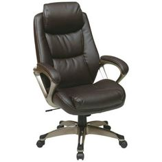 Office Star Work Smart ECH89181-EC1 Executive Eco Leather Chair