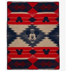 Pendleton Disney Mickey Mouse Frontier Throw Blanket (€83) ❤ liked on Polyvore featuring home, bed & bath, bedding, blankets, mickey mouse throw, disney throw, mickey mouse blanket throw, disney throw blanket and mickey mouse throw blanket