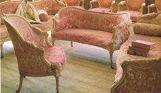 Thomas Chippendale seating Burton Constable Hall Fabrics by Lebear French Chairs, Georgian Furniture, Decor, Furniture, Pink Chair, French Decor, Shabby Chic, Cool Chairs, Chippendale Design