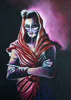 """Corporate cannibal / Grace Jones"", Acrylic on canvas, 40x50cm, 2015"