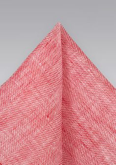 Solid Red Linen Pocket Square, $14.90 | Cheap-Neckties.com