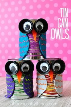 This tin can owl craft is colorful and cute and is perfect for the fall season…