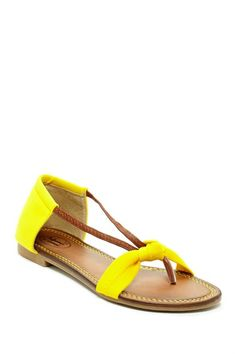 I've never had a pair of yellow shoes! Not quite for me, Carrini Knotted Upper Thong Sandal by Bucco on @HauteLook
