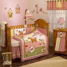 Little girl farm animal bedding! LOVE IT!
