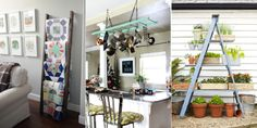 How to Decorate With Vintage Ladders - Ways to Organize With Old Ladders
