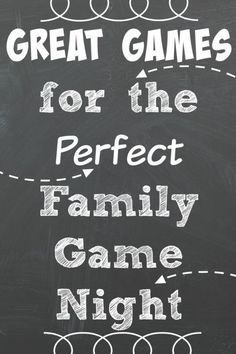 Plan a family game night! Here are some great game suggestions to get you started!