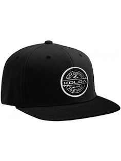Koloa Surf Thruster Patch Logo Solid Snapback Hats - Black - C617YI0DR0K 7029a6efac1