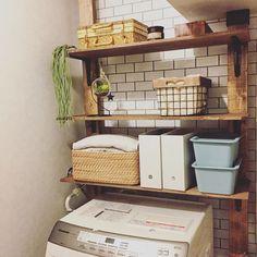 ディアウォールを洗面所で活用。棚を作って収納を決める!