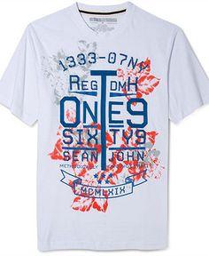 Sean John Shirt, Anchored Down Graphic T Shirt - T-Shirts - Men - Macys