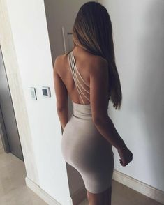 dress nude nude dress bodycon dress sexy summer one shoulder cocktail dress bodycon strappy strappy dress party dress sexy party… Tight Dresses, Sexy Dresses, Cute Dresses, Short Dresses, Casual Dresses, Party Dresses, Dress Party, Mode Outfits, Sexy Outfits