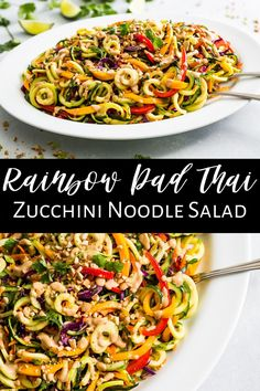 Dairy Free Recipes, Vegan Recipes Easy, Beef Recipes, Real Food Recipes, Gluten Free, Meatless Recipes, Veggie Meals, Vegetable Recipes, Zucchini Noodles Salad