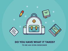 Do you have what it takes to be an icon designer? Read article: http://iconutopia.com/articles/being-an-icon-designer/