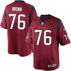 Nike Limited Duane Brown Red Men's Jersey - Houston Texans #76 NFL Alternate
