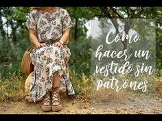 Cómo hacer un vestido sin patrones o moldes - YouTube Boho Summer Dresses, Boho Dress, Love Sewing, Couture, Crochet Granny, Sewing Techniques, Sewing Projects, Kimono, Bohemian
