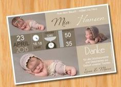 Danksagungskarten Geburt Geburtskarte MUSTER 93 - Bild vergrößern