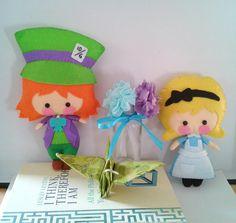 Alice in Wonderland Doll Patterns - SET 1 by BornToBeFelt on Etsy