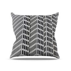 Grid Throw Pillow | dotandbo.com Love this pillow! Trouble is, pillows are more often than not just in the way.