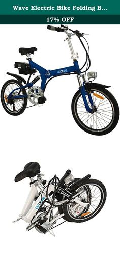 Wave Electric Bike Folding Bike - Lightweight Aluminum Frame - Fastest and Most Affordable Electric Bicycle Ever - 2nd Generation. Electric single-speed foldable bike. Includes a 36V, 350W model featuring a 36V, 7.8 aH Samsung lithium-ion battery that won't experience memory problems or need to be fully discharged before recharging. Top speed has been tested to 20 miles per hour, while the maximum range on full electric mode, depending on the weight of the rider, is about 18 miles. The…