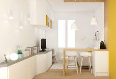 Am nagement petite cuisine ouverte sur salon cuisine - Petites surfaces amenagement ...