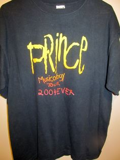 2004 Prince Musicology tour shirt , X-large - Apparel
