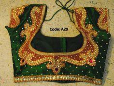kundan stone and thread work